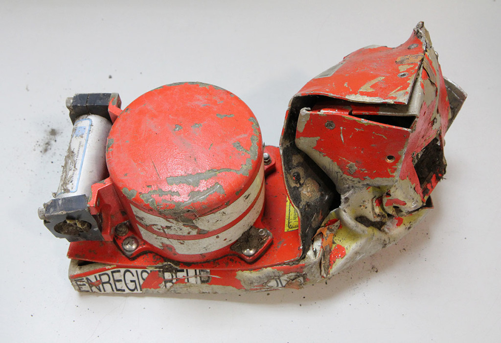 """This is the """"black box"""" voice recorder from the Lufthansa Germanwings Airbus that crashed in the Alps, killing all 150 people on board. A second black box – the data recorder – has now been found. Reuters"""