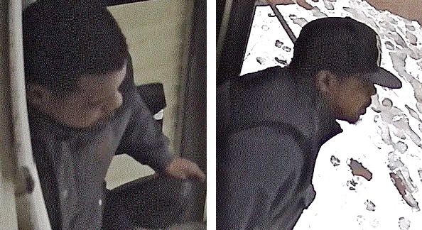 Surveillance images show two of the suspects in a home invasion robbery in Portland on Thursday. Courtesy Portland Police Department