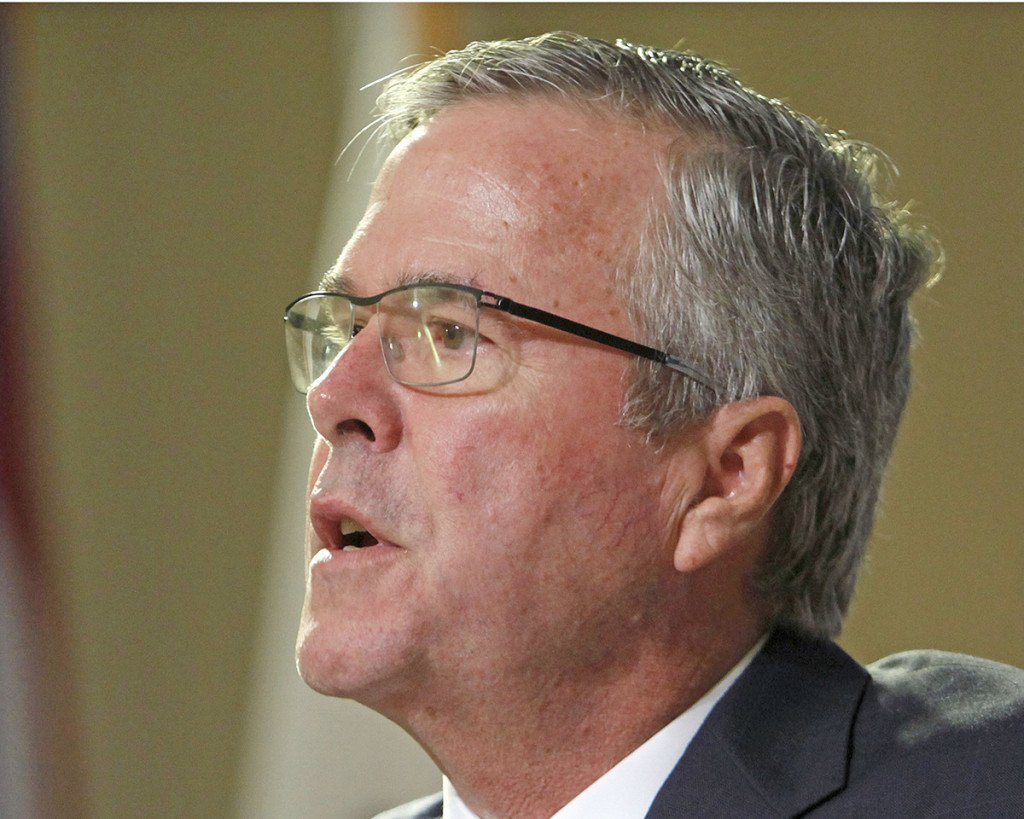 """Former Florida Gov. Jeb Bush: """"Knowing what we know now, clearly there were mistakes as it related to faulty intelligence in the lead-up to the war."""" The Associated Press"""