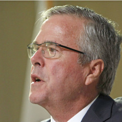 "Former Florida Gov. Jeb Bush: ""Knowing what we know now, clearly there were mistakes as it related to faulty intelligence in the lead-up to the war."" The Associated Press"