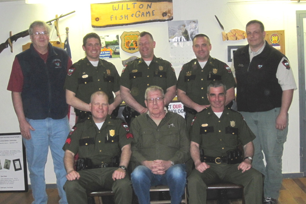 Wilton group honors maine game wardens biologists for Maine fish and game