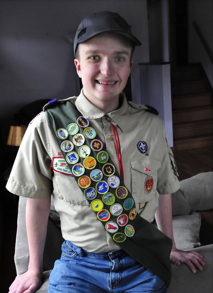 Nathanael Batson, of Fairfield, is currently a Life ranked Boy Scout and is working on getting the Eagle rank. Batson is legally blind as a result of having the genetic disorder of neurfibromatosis.