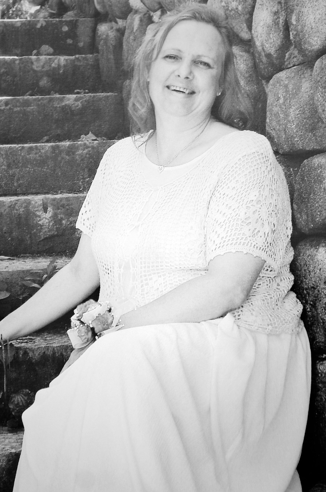 Kelly Voytasko in a wedding photo provided by her husband, Anthony, on March 26.