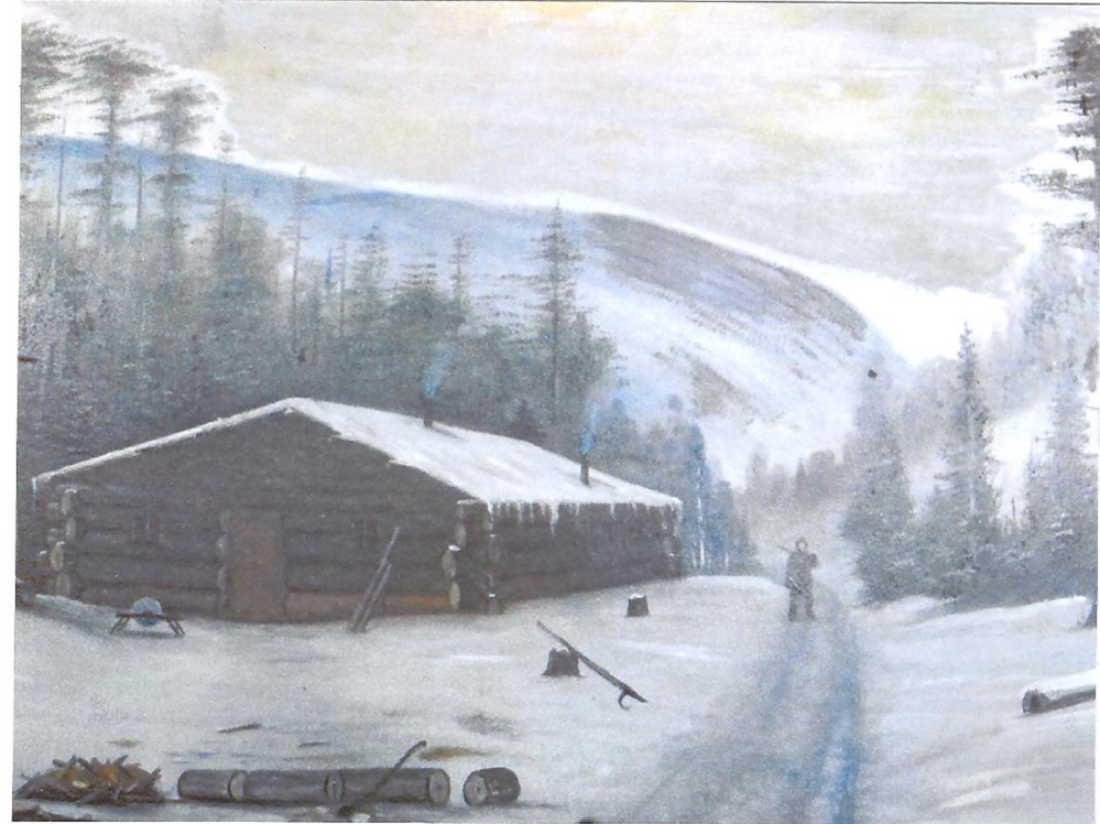 This winter landscape by Willis Pelton is believed to have been painted in central Maine in the early 20th century. The Madison Historical and Genealogical Society has documented Pelton's life and art work in an exhibit, The Willis Pelton Art Show, that will be on display Saturday at the Old Point Avenue School.
