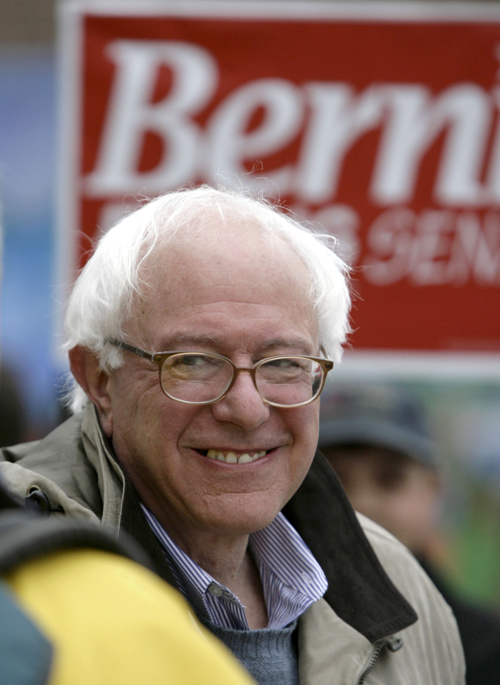 Bernie Sanders, in this 2006 photo, remains true to his beliefs as he now takes on Hillary Rodham Clinton in an improbable quest for the Democratic presidential nomination.