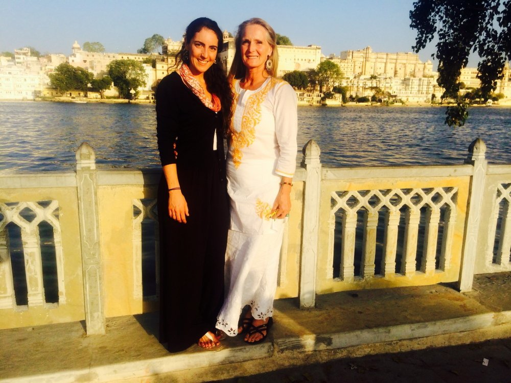 Yasmine Habash, left, with her mother Dawn Habash, in India earlier this year.