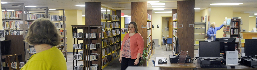The temporary location for Augusta's Lithgow Public Library opened Monday for what's expected to be an 18-month stint at the Ballard Center on the Augusta's east side.