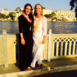 Yasmine Habash, left, with her mother Dawn Habash, last month in India.