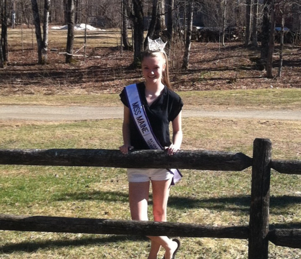 Taylor Bartlett was crowned Miss Maine National Teenager 2015 April 11 in Manchester, N.H.