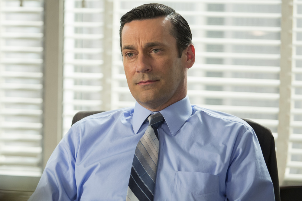 "Jon Hamm as Don Draper in a scene from the final season of ""Mad Men."" The series finale airs on Sunday."