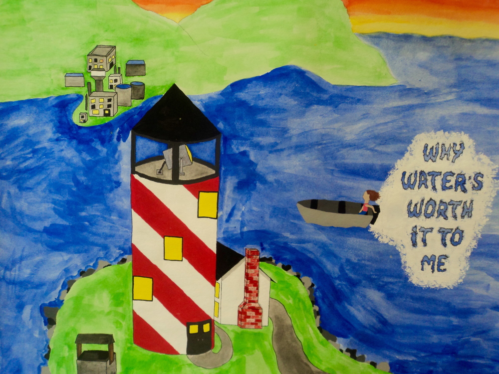 """Mariah Hajduk's winning poster illustrates """"Why Clear Water's Worth it to ME."""""""