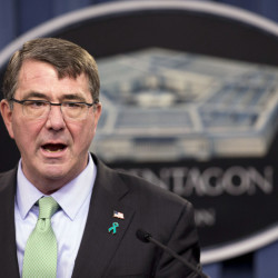 In this May 1, 2015 file photo, Defense Secretary Ash Carter speaks during a news conference at the Pentagon in Washington.