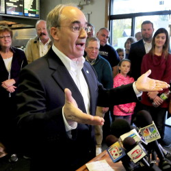 U.S. Rep. Bruce Poliquin, R-2nd District, shown here in this 2014 file photo, has gotten big money for his re-election bid and high marks from many in Maine's financial industry.