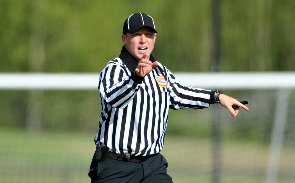 Josh Blaisdell, a teacher at Lawrence High School, officiates around 30 collegiate lacrosse games throughout New England ranging from Division I to Division III each season. Blaisdell also referees high school games in Maine.