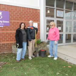 The Central Maine Garden Club recently prepared flower beds at the Alfond Youth Center. From left are Joyce Bushey, Louise Alley and Marilyn Hall. Central Maine Garden Club Waterville annual Plant Sale will be held from 8 a.m. to noon Saturday, May 30, at the United Methodist Church, 20 West School St., in Oakland. Perennials, annuals, food and jewelry will be offered for sale. Proceeds will be used for maintaining Redington Museum, Alfond Youth Center, Camp Tracy gardens and Silver Street planters.
