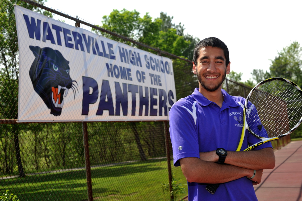 Waterville Senior High School senior Ilyas Khan will compete in the state singles Round of 48 on Friday. Khan went 11-1 at No. 1 singles for the Purple Panthers this spring.