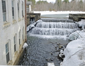 Lombard Dam on Outlet Stream in Vassalboro, seen in March, is one of many that may be removed to allow alewives access to China Lake. Town Meeting voters on Monday will vote on whether to give $38,000 from the town's Alewife Restoration Fund to the China Lakes Alliance to help pay for the project.