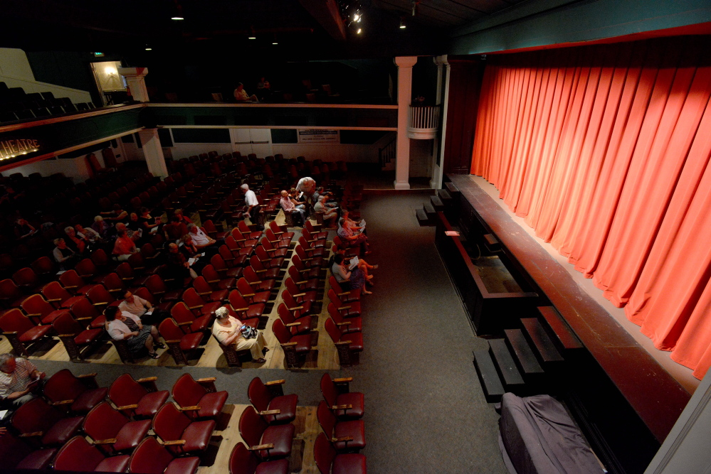 """People take their seats Thursday for the opening night show, """"The Witch in 204,"""" at Lakewood Theater in Madison."""