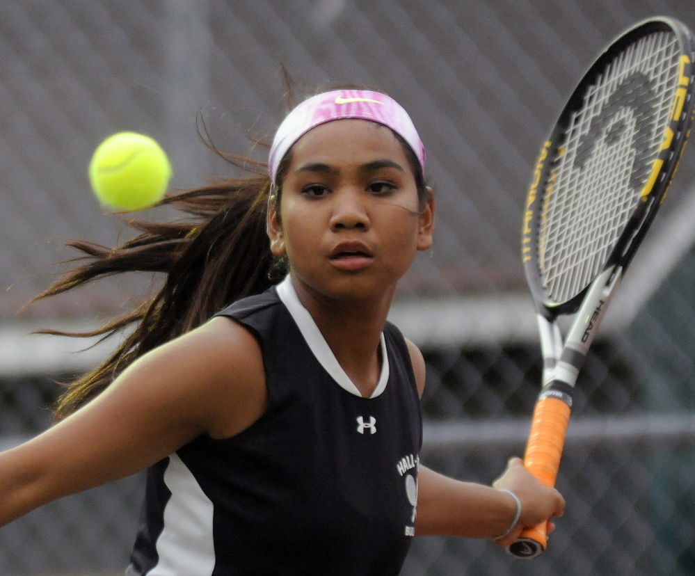 Thea Sweet and the Hall-Dale girls tennis team will be a favorite Tuesday at the Western Class C tennis tournament.