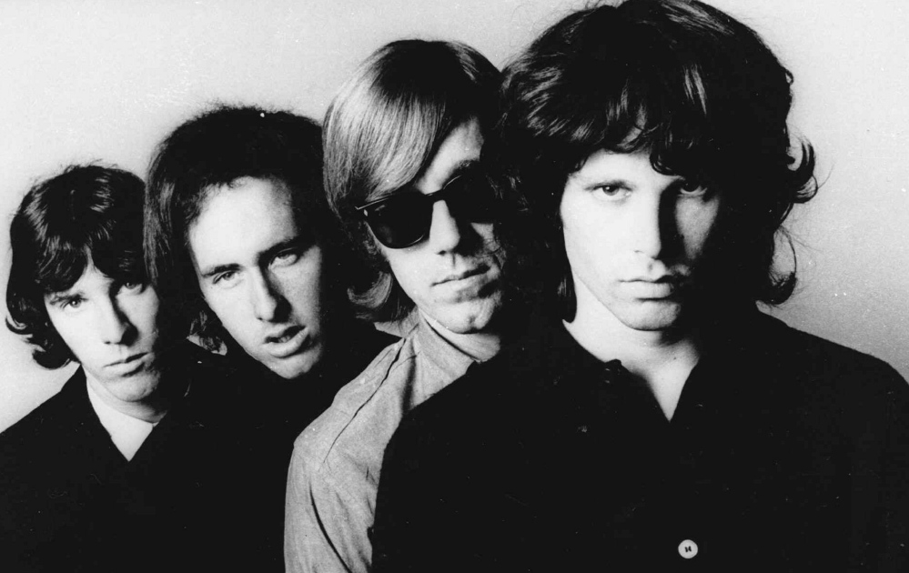 No pin-up boys, the Doors, from left, John Densmore, Robbie Krieger, Ray Manzarek and Jim Morrison, still have a cult following.