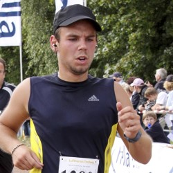 In this Sunday, Sept. 13, 2009 photo Andreas Lubitz competes at the Airportrun in Hamburg, northern Germany.