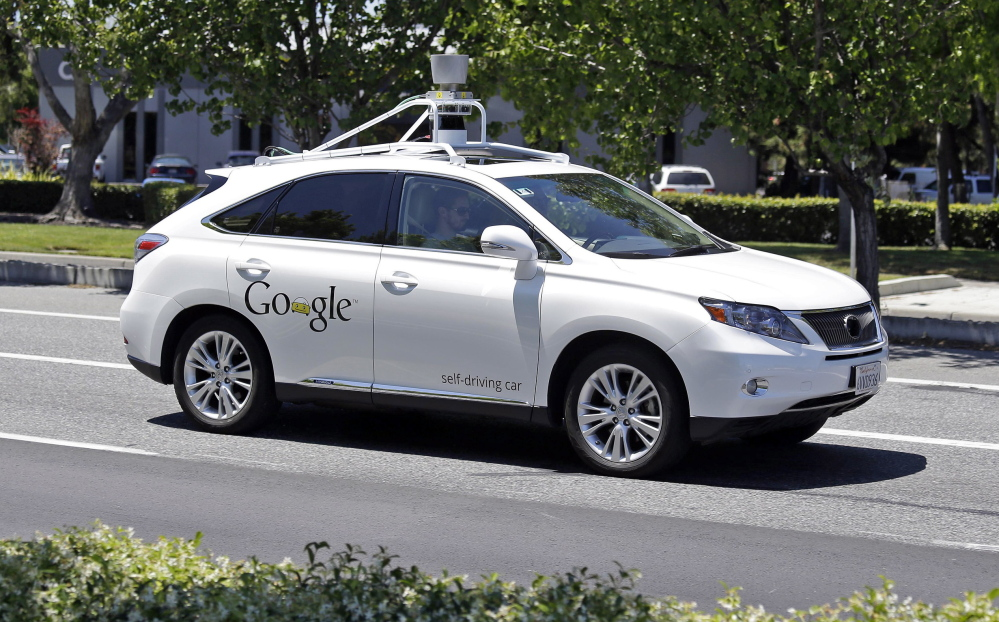 A Google self-driving Lexus at a Google event outside the Computer History Museum in Mountain View, Calif., in 2014.