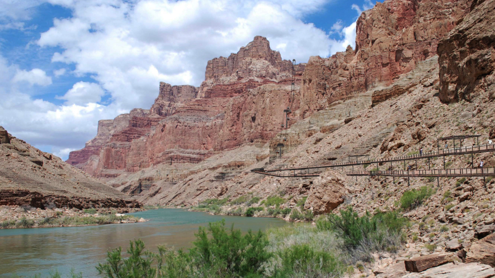 The Navajo Nation's newly inaugurated president is backing a pro-business agenda that includes building a tram on the east canyon rim to take visitors to the bottom of the Grand Canyon.