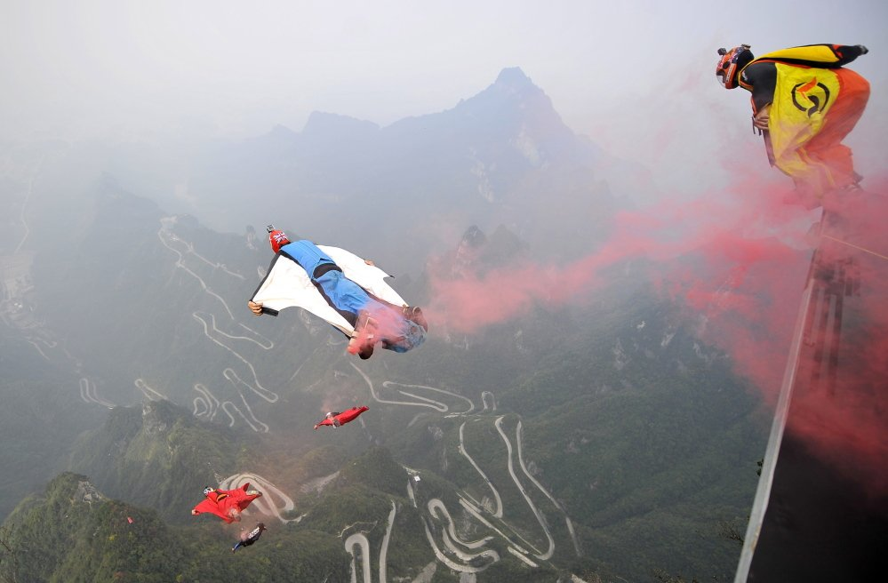Flying in wingsuits is the most extreme form of the sport of BASE jumping.