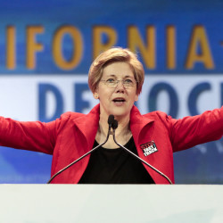 Sen. Elizabeth Warren says President Obama is keeping details of a trade deal with Asian-Pacific nations secret even though the deal is basically done. Warren called on the president to release the draft text of the agreement.