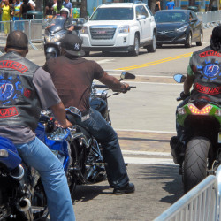 Motorcyclists ride through Myrtle Beach, S.C., this week in a prelude to the tens of thousands of bikers that are expected in the area over Memorial Day weekend. They will be coming for the annual Atlantic Beach Bikefest that kicks off in the predominantly black hamlet.