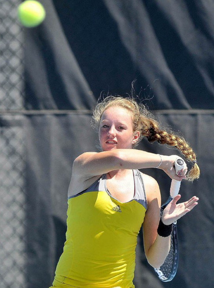 Sadie Hammond of Belgrade, who has been competing professionally, will enter the University of Tennessee in the fall. Players may win up to $10,000 in prize money per year before college.