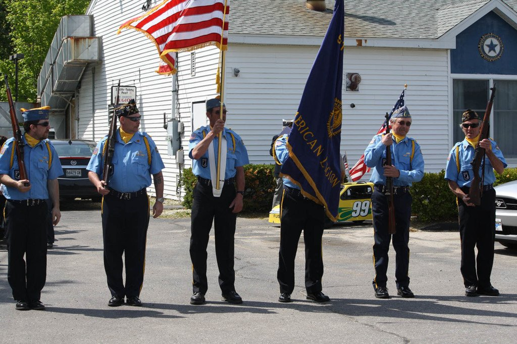 Members of Bath's American Legion Smith-Tobey Post 21, seen assembling for the 2014 Memorial Day parade, say an anonymous $5,000 donation will enable to post to put on the parade again this year. Lisa Gillespie photo