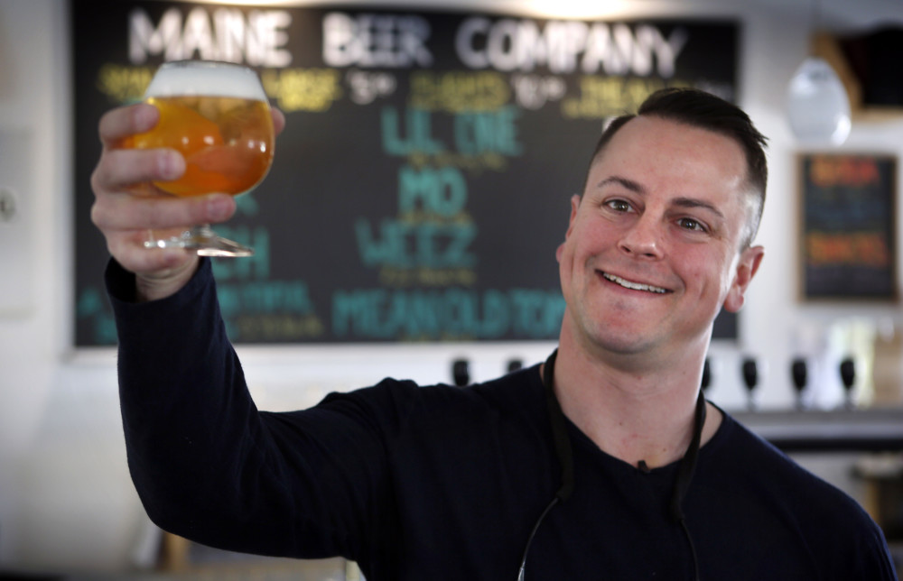 Dan Kleban, a co-owner of the Maine Beer Company, in the company's tasting room in Freeport.