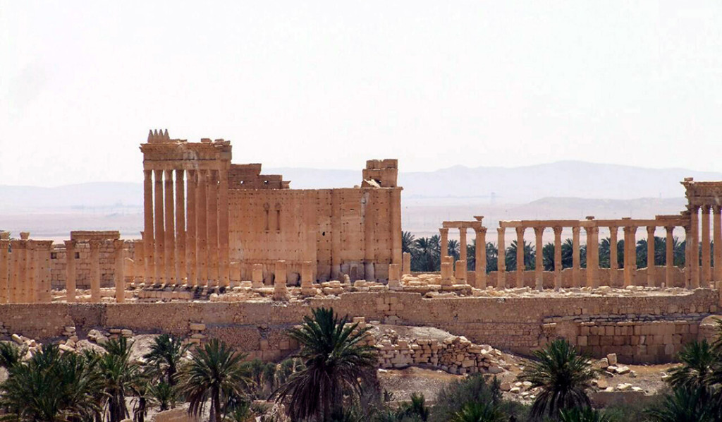 A general view of the ancient Roman city of Palmyra,  Syria. Photo from the Syrian official news agency SANA