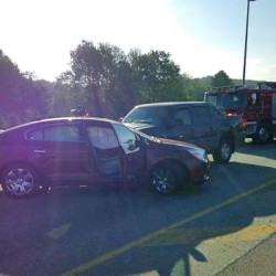 Police said a Thursday morning accident was caused by a semi-truck making an illegal turn and left the scene on the Cushnoc Crossing Bridge. Police are asking the public for information about the vehicle.