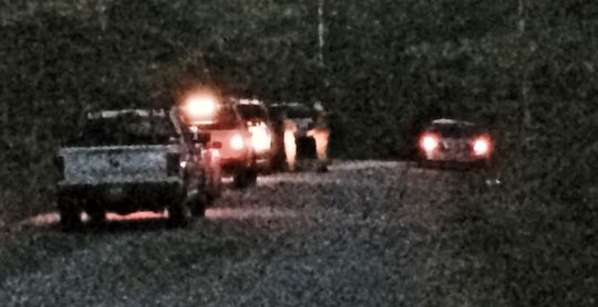 Police have set up a command post on Foxboro Road. WCSH-TV courtesy photo