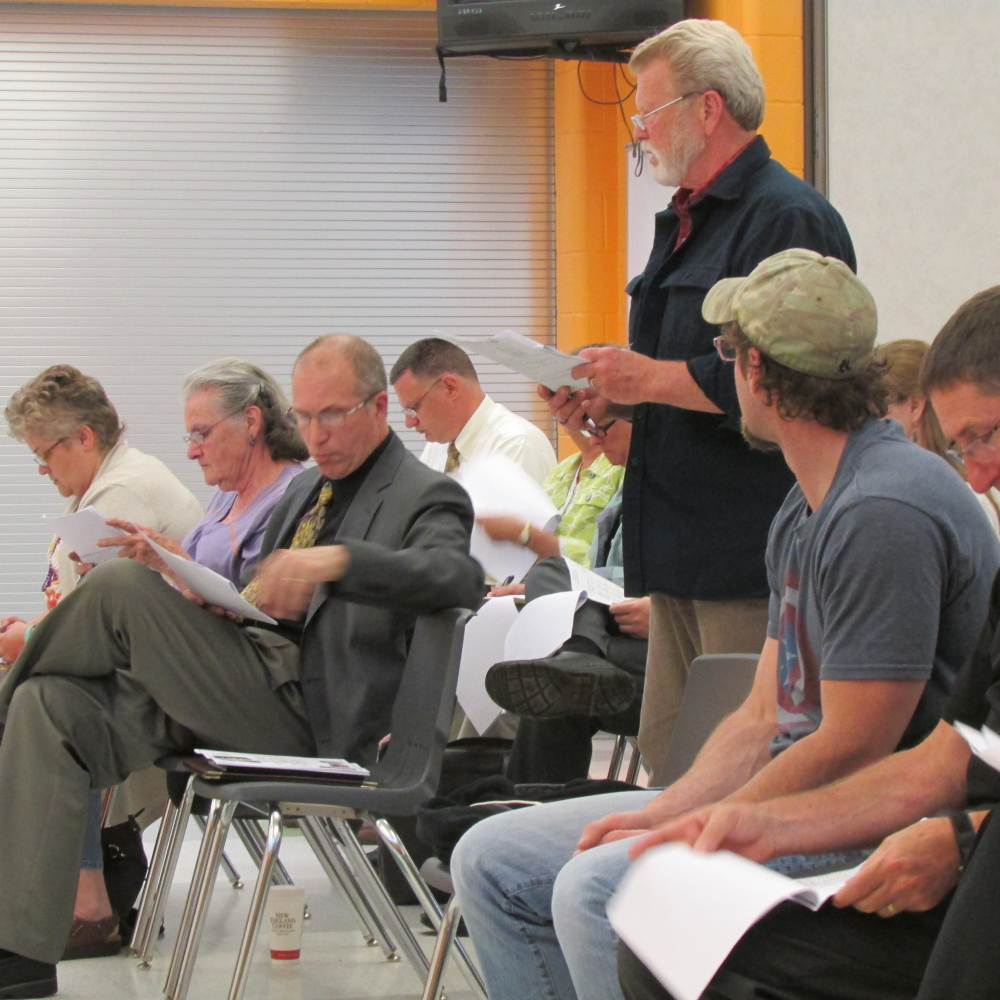 Sidney Selectman Tim Russell said the proposed budget would raise the level of education spending in his town.