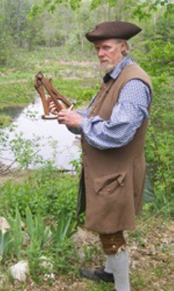 Contributed photo   Jeff Miller will demonstrate navigational tools used by Colonial seafarers in a living history program at Chapman-Hall House, Damariscotta on June 13 and 14.