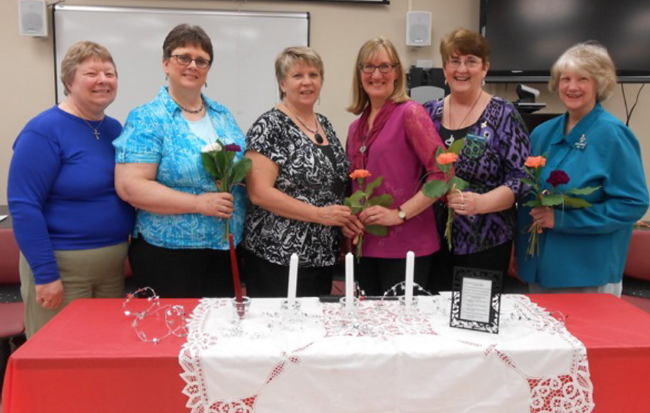 From left are Sharon Judkins, Jan Flowers, Anne Danforth, Cathy Anderson, Sue Staples and Kathy Joyce.