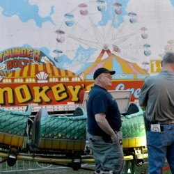 Inspectors from the Office of the State Fire Marshal investigate a ride malfunction at Smokey's Greater Shows carnival at Head of Falls in Waterville in this photo from June 12.
