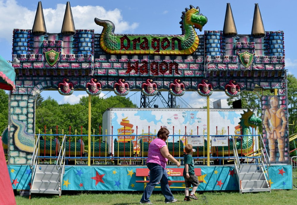 The Dragon Wagon roller coaster ride remains closed Saturday after three children were injured when it malfunctioned Friday evening at Head of Falls in Waterville.