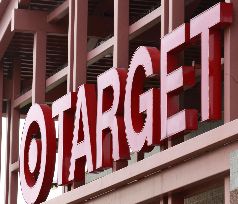 This Tuesday, May 17, 2011, file photo, shows a Target sign on the front of a Target Store, in Wilsonville, Ore.