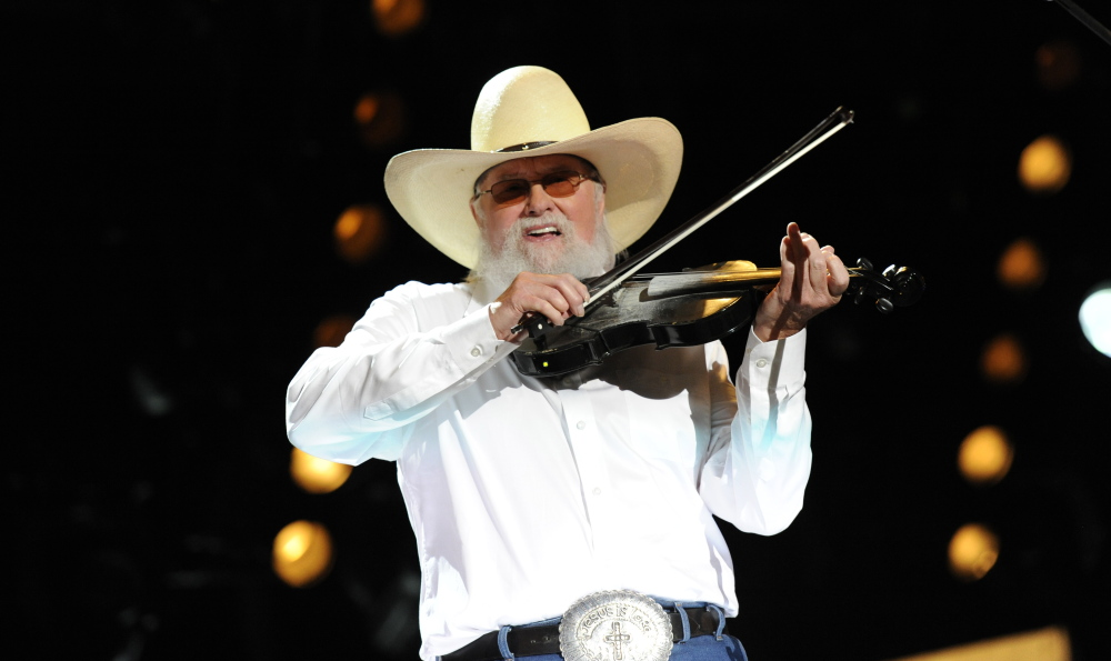 Charlie Daniels joins Brad Paisley performance at LP Field in Downtown Nashville on Sunday, June 9 during the 2013 CMA Music Festival.