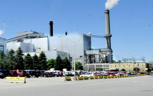 Loss of value of the Sappi Fine Paper mill in Skowhegan, seen on Wednesday, has had a financial effect on the town that a bill in the Legistlature aims to help ease. S.D. Warren Co., the mill's owner, also has filed an appeal of a tax abatement denial, which would lower the value of the mill further if approved.