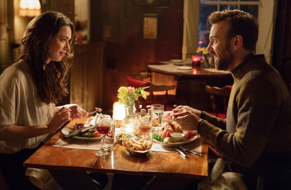 """Rebecca Hall and Jason Sudeikis in a scene from """"Tumbledown."""""""
