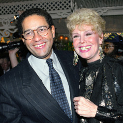 """NBC """"Today"""" show co-anchor Bryant Gumbel and former member of the morning television show cast Betsy Palmer pose at the 40th anniversary party for the show in New York City in 1992. Palmer died Friday at a hospice in Connecticut."""