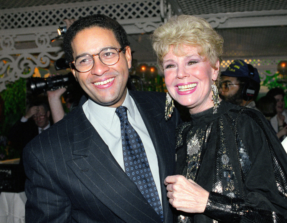"NBC ""Today"" show co-anchor Bryant Gumbel and former member of the morning television show cast Betsy Palmer pose at the 40th anniversary party for the show in New York City in 1992. Palmer died Friday at a hospice in Connecticut."