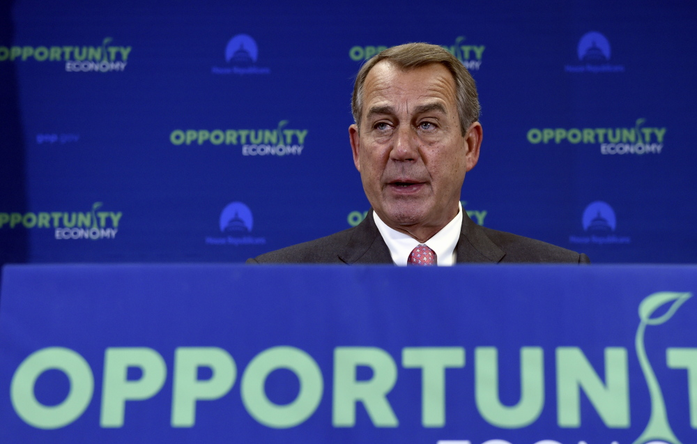"House Speaker John Boehner of Ohio says he doesn't think the votes needed to pass Obama's fast-track trade bill are ""quite there yet."""