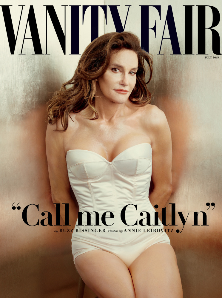 The cover of the July issue of Vanity Fair magazine shows Bruce Jenner debuting as a transgender woman named Caitlyn Jenner.
