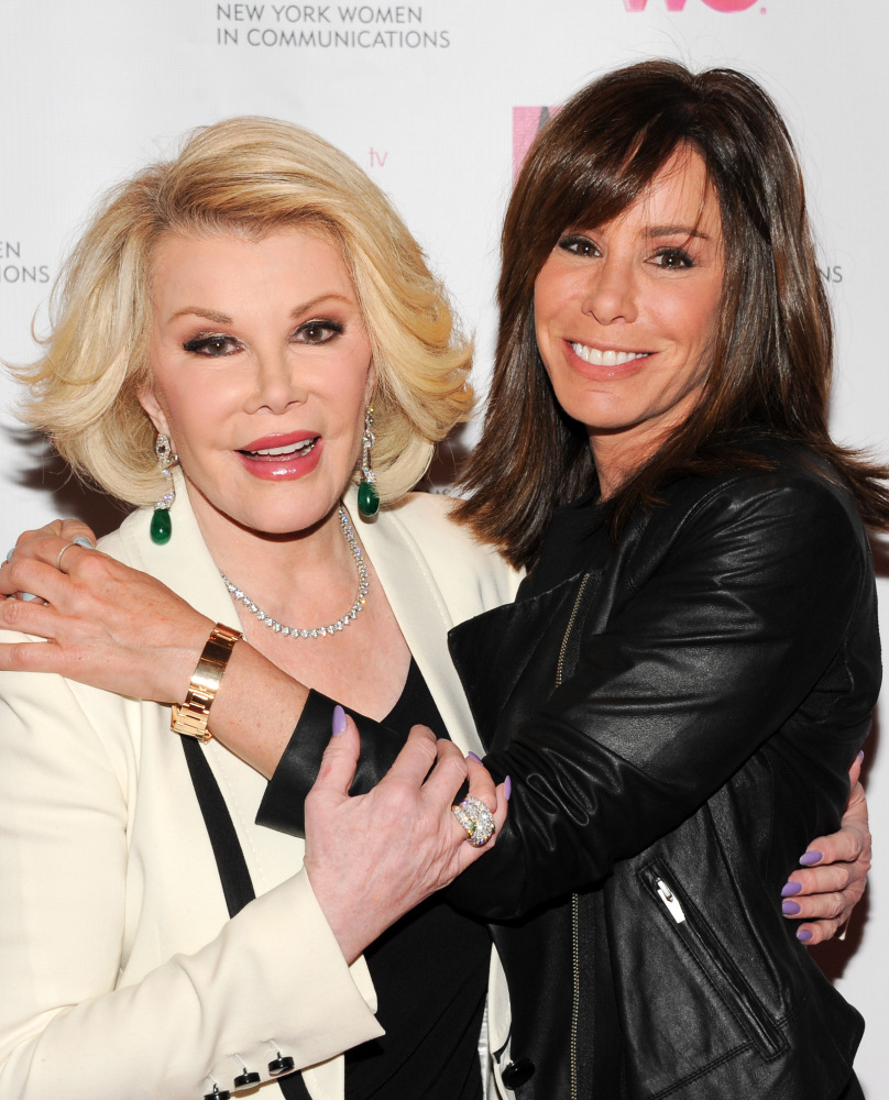 Joan Rivers' legacy seems to include the sense of humor so apparent in daughter Melissa, left.